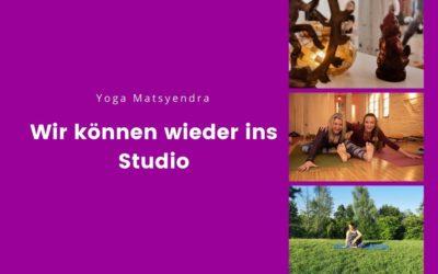 Wir können wieder ins Yoga-Studio