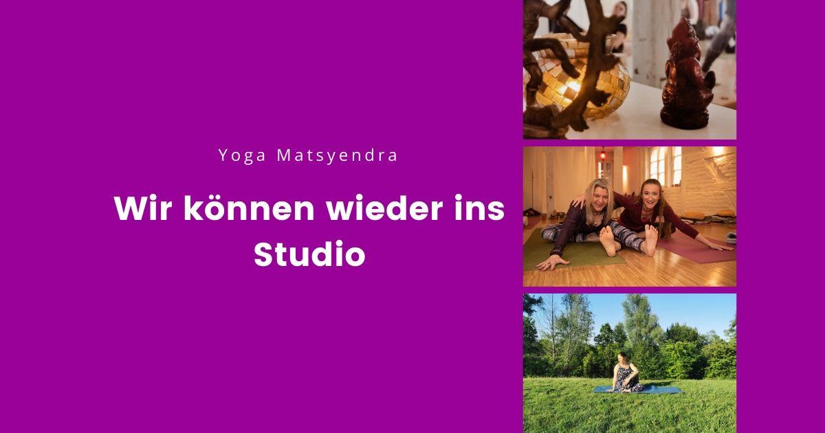 Yoga wieder im Studio möglich